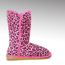 HC-102A warm plush high quality TPR sole winter boots with fur inside