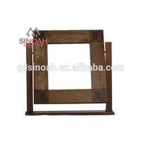 Chunky style solid oak wooden pedestal mirror /bedroom furniture