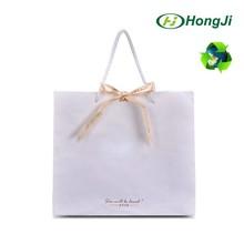 Eco White Brown Craft With Logo Print Garment Kraft Paper Bag
