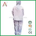 Para salas blancas de seguridad esd/antiestático ropa blanca/esd ropa de trabajo