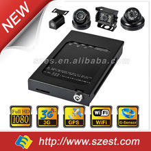 4CH 3G Remote live view HD Mobile CCTV Solution with WIFI G-Sensor GPS 128GB 256GB Full HD 1080P Car DVR