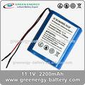 De la batería 18650 icr18650h- 3s1p 11.1v 2200 mah li-ion de la batería para la bicicleta eléctrica