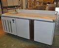 Tavolo di lavoro frigo in acciaio inox per bar/caffè cucina