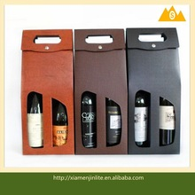 Fashion custom leather wine bag carrier in high quality