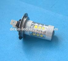 auto parts led light H7 80W 10-30V LED Fog Light with lens