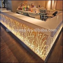 Interior led furniture Modern bar counter