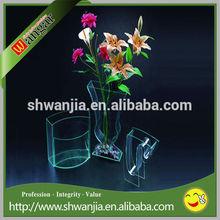 Acrílico cristal florero, Acrílico clear plastic vase, Florero para cementerio
