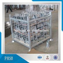 Supermarket Stacking Storage Steel Mesh Pallet Cage