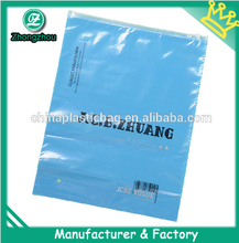 2015 brand new products decorative plastic bags with zipper with clear window in front in silk screen printing