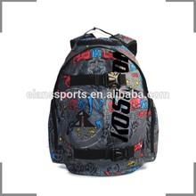 2014 KOSTON branding trend of graffiti designs skate backpack KB010