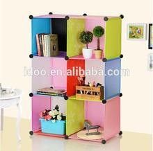 Children Book Case Rainbow Style Plastic Waterproof Cabinet
