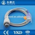 Datex spo2 sensor de cable de extensión, conector redondo 10 pin