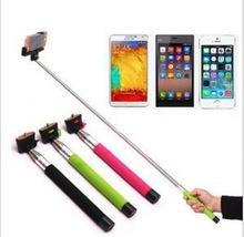 Mobile phone bluetooth remote shutter with monopod for Iphone Samsung and other smart phone