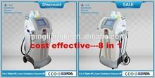 8 in 1 Elight+cavitation+vaccum+ rf ipl alexandrite laser machine