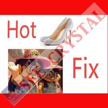 1028 wholesale 14 facet round mc crystal glass hot fix shoe stone