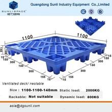 Aisa 145mm 800kg HDPE Pallet New Plastic Crate Pallet