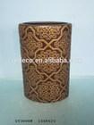 Antique ceramic vase in bronze look
