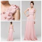 Elegant pink bridesmaid dress long, cheap chiffon bridesmaid dress patterns