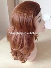 china best quality double drawn human hair 3/4 head Jewish Band Fall Wig, kosher wigs
