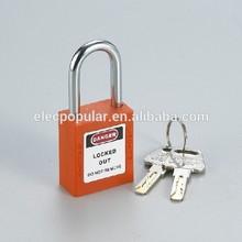 38mm short hardened steel shackle nylon lock body keyed to differ abs safety padlock