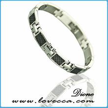 Latest wholesale stainless steel men's magnetic bracelet