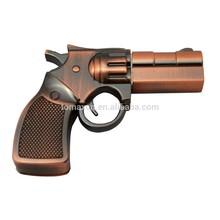 new novelty copper revolver shape mini usb flash pen stick bulk cheap