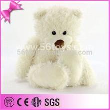 Custom shy fluffy white teddy bear, plush teddy bear white, teddy bear factory china