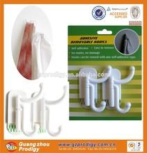 self adhesive plastic hooks plastic double coat hooks adjustable hook