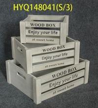 2014 decorative classic wooden crate