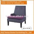 Cadeira de mobiliário moderno, para salão de beleza, 2 botões na parte de trás, tubulação em torno do assento, tb-7481