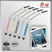 2014 rhinestone mini stylus pen for smartphone
