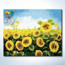 sunflower oil painting 40x50cm camel acrylic colours