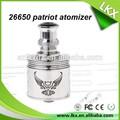 El más reciente rebuildable patriota vaporizador atomizador negro patriota rda/rda atomizador 26650 patriota