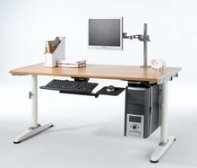 three leg electric height adjustable desk with sit and stand feature