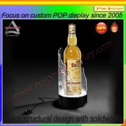 custom POP wine bar high end counter acrylic wine glorifier