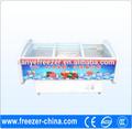 vendita fabbrica alta guality e prezzo basso metà congelatore mezzo frigorifero commerciale congelatore verticale usato in supermercato o negozio
