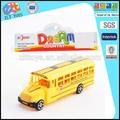 Nuevo estilo de tirar de la escuela modelo de autobús, sólido de color mini bus coche de juguete