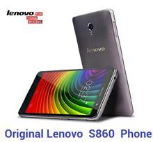 Original Lenovo S860 phone MTK6582 1.3GHz Quad-core CPU 8.0MP+1.6MP camera IPS screen 1280*720 Dual sim card
