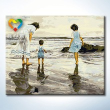 sea landscape oil painting 40x50cm home decor family tree wall decal