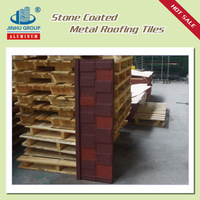 Lightweight galvalume stone coated steel roofing shingle