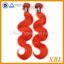 2014 Hot Selling Body Wave Brazilian Dark Red Color Human Hair Weaving