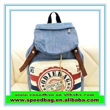 YIWU 2015new style canvas backpack print postmark wholesale leisure backpack travel bag FW15529