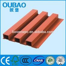 EU/US/UK standard fiber chip+ PVC+calcium Wood plastic composite wpc synthetic teak decking