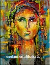 Pop art woman oil painting on canvas portrait