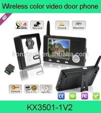 Dual 3.5 inch Color Display Door bell 2.4GHz digital wireless video door phone with night vision door camera smart home intercom