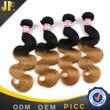 Amazing charming ombre color 1b-27 hair perm brazilian virgin hair