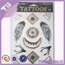 Tatuaggio orso, oro- foglio- tatuaggio, tatuaggio temporaneo di carta