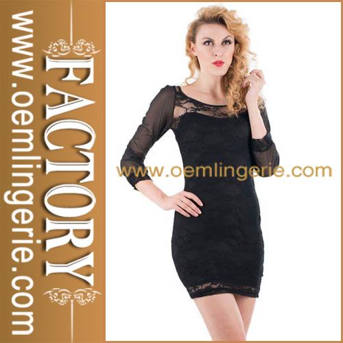 chegada nova moda atacado preto vestidos para festas