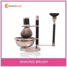 Newest Hot sale mens gift shaving kit with badger shaving brush