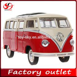 Hot sale 1:24 Metal Pull back Classic Bus DIY die cast car